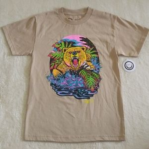 Neff Psychedelic🤩 Grizzly Bear🐻 Tee - NWT